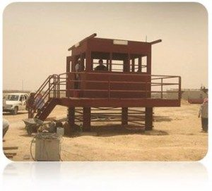 A guard structure built by TigerSwan in Saudi Arabia